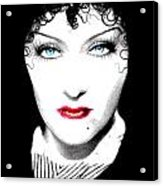 Gloria Swanson - Edith Piaf Acrylic Print