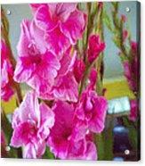 Glorious Gladiolus Acrylic Print