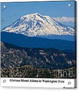 Glorious Mount Adams Acrylic Print