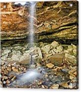 Glory Hole Waterfall Portrait Acrylic Print