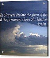 Glory To God   Psalm 10 1 Acrylic Print