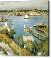 Gloucester Harbour Acrylic Print by William Leroy Metcalf