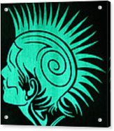 Glow In The Dark Tribal Punk Acrylic Print