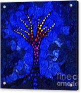Glow Tree Blue Acrylic Print