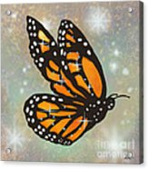 Glowing Butterfly Acrylic Print