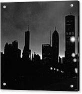 Glowing Chicago Sunset Acrylic Print