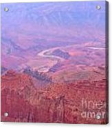 Glowing Colors Of The Grand Canyon Acrylic Print
