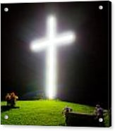 Glowing Cross Acrylic Print
