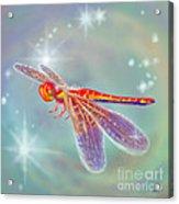 Glowing Dragonfly Acrylic Print