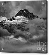 Glowing Glaciers In The Tantalus Range Acrylic Print