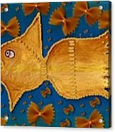 Glowing  Gold Fish Acrylic Print