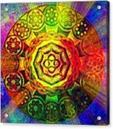 Glowing Mandala Acrylic Print