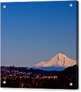 Glowing Mt Hood Acrylic Print