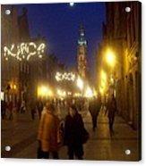 Glowing Old Gdansk Acrylic Print