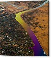 Glowing River. Rainbow Earth Acrylic Print