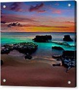 Glowing Sandy Acrylic Print