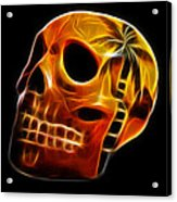 Glowing Skull Acrylic Print