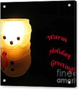 Glowing Snowman Acrylic Print