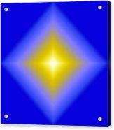 Glowing Star On Blue Acrylic Print