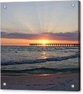 Glowing Sunset Acrylic Print by Sandy Keeton