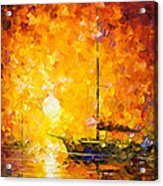 Glows Of Passion - Palette Knife Oil Painting On Canvas By Leonid Afremov Acrylic Print