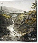Glyn Diffwys Stone Bridge, Wales, 1800 Acrylic Print