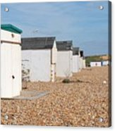Glyne Gap Beach Huts In Sussex Acrylic Print