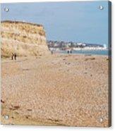 Glyne Gap Beach In England Acrylic Print