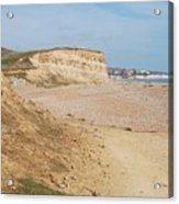 Glyne Gap Cliffs In Sussex Acrylic Print