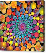 Glynnsims Spiral Fiesta Acrylic Print