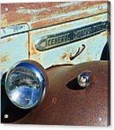 Gmc Truck Side Emblem Acrylic Print