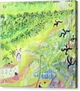 Goa, India, 1998 Oil On Paper Acrylic Print
