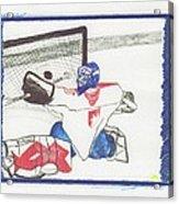 Goalie By Jrr Acrylic Print