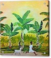 Goat Chase Acrylic Print