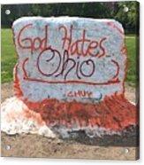 God Hates Ohio Acrylic Print