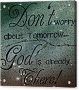 God Spiritual Art - Inspirational Message Typography Acrylic Print
