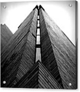 Goddard Stair Tower - Black And White Acrylic Print