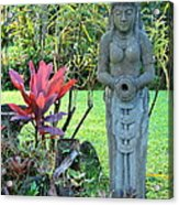 Goddess Bhudevi Mother Earth Acrylic Print by Karon Melillo DeVega