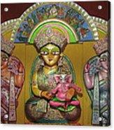 Goddess Durga Acrylic Print by Pradip kumar  Paswan