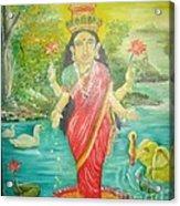 Goddess Mahalaxmi Acrylic Print