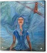 Goddess Of Golden Gate Brigde Acrylic Print