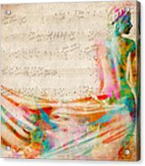 Goddess Of Music Acrylic Print by Nikki Smith