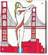 Goddess Of The Golden Gate Acrylic Print by Michael Friend