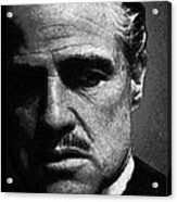 Godfather Marlon Brando Acrylic Print by Tony Rubino