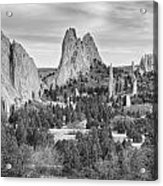 Gods Colorado Garden In Black And White    Acrylic Print