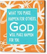 God's Gift Acrylic Print