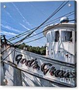 God's Grace Shrimp Boat Acrylic Print
