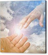 God's Saving Hand Acrylic Print