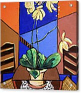 Gods Yellow Orchids Acrylic Print