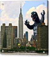Godzilla And The Empire State Building Acrylic Print